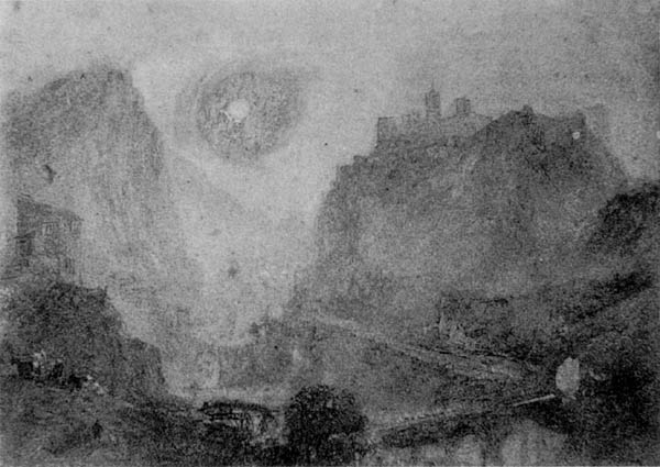 J.M.W.Turner, Sisteron from the North-West, Private Collection. From a photograph taken in the 1860s.