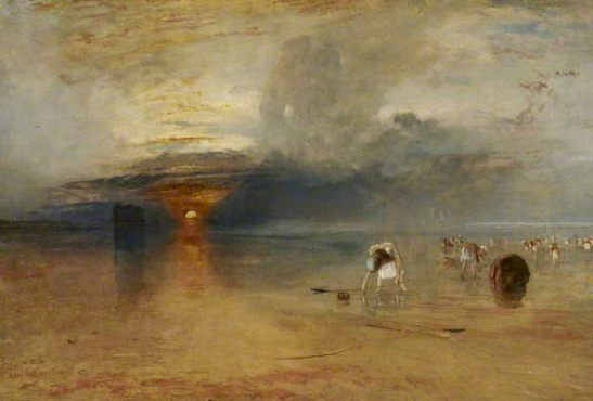 JMWTurner, Calais Sands at Low Water: Poissards Collecting Bait, 1830, Oil on canvas, 68.5 x 105.5 cm. Bury Art Gallery, by courtesy.