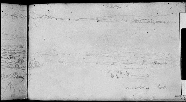 JMWTurner, The Kent Estuary from near Milnthorpe, 1816, Turner Bequest TB CXLVII 36 (Tate D11500), Tate Britain, London. Photo: David Hill