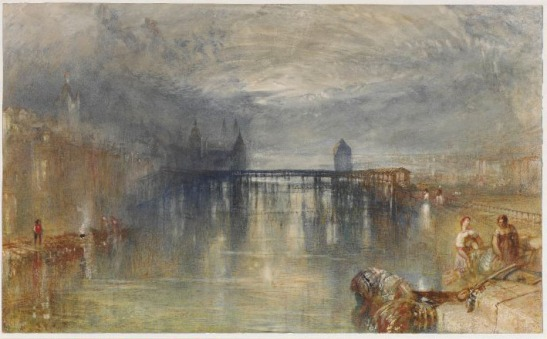 J.M.W.Turner Lucerne by Moonlight, c.1844-5? Watercolour, 290 x 476 mm, 11 3/8 x 18 3/4 ins London, British Museum, R.W.Lloyd bequest, 1958-7-12-44 Photo courtesy of British Museum