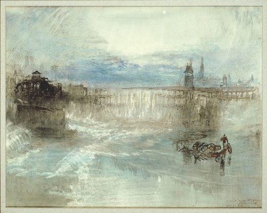 J.M.W.Turner Zurich by Moonlight, c.1841-2? Watercolour on white paper, 9 3/16 x 11 ½ ins, 233 x 292 mm Art Institute of Chicago, Gift of Margaret Mower in Memory of her Mother, Elsa Durand Mower. Photograph courtesy of the Art Institute of Chicago. To view the watercolour on the Art Institute of Chicago's own website click on the following link, and the click on your browser's 'back' button to return to this page: http://www.artic.edu/aic/collections/artwork/11442?search_no=25&index=0