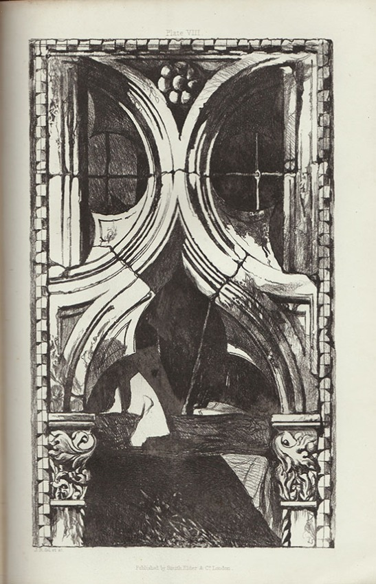 John Ruskin Window in the Ca' Foscari, Venice Softground etching by John Ruskin ppublished in the first edition of Seven Lamps of Architecture in 1849. Photograph: David Hill