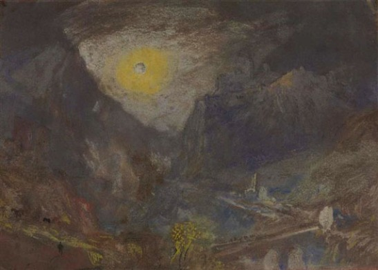 J.M.W.Turner Sisteron from the North-West: Moonlight, 1838? Watercolour, 5 1/2 x 7 1/2 ins, 140 x 190 mm Prive Collection, sold Christie's New York, 5 November 2013, lot 149, $149,000 Photo courtesy of Christie's - to see the watercolour in Christie's online catalogue archive click on the following link, and press the 'back' button to return to this page: http://www.christies.com/lotfinder/drawings-watercolors/joseph-mallord-william-turner-ra-sisteron-from-5737579-details.aspx