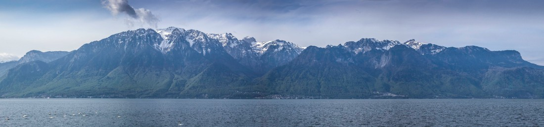 The Dent d'Oche Range from Vevey, Switzerland Photograph: David Hill, April 2011 (Double-click to enlarge; use back button to return to this page)