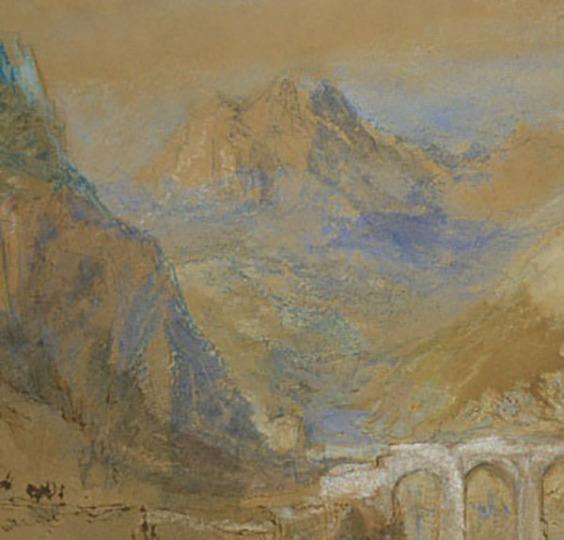 Sisteron: Pont du Buech from La Baume (detail)