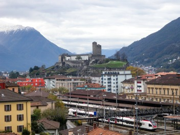 Bellinzona: The Castel Grande from Daro Photograph by David Hill, 1 November 2012, 14.06