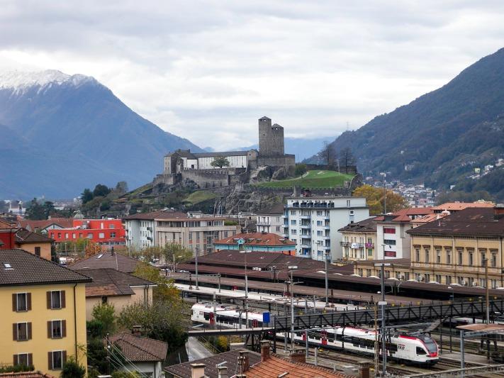 Bellinzona: The Castel Grande from Daro Photograph by David Hill, 1 November 2012, 14.06