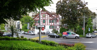 The Hotel Hofgarten, Lucerne Photograph by David Hill, 27 May 2014, 12.10
