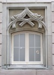 Lucerne: Ruskin's window at the Hotel Goldener Adler Photograph by David Hill, 27 May 2014, 15.38 Of the two windows flanking the entrance only this one is original. It may have formed the original doorway to the C16 building, and was cut down to make a window when the building was remodelled as the Hotel Goldener Adler in 1786.
