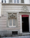 Lucerne, the doorway to the Manhattan Club Photograph by David Hill, 27 May 2014, 15.38 In Ruskin's day the building was the Hotel Goldener Adler (Golden Eagle).
