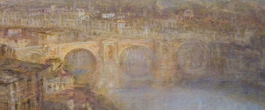J.M.W.Turner Rome from Mount Aventine, 1836 Detail of his treatment of the Ponte Rotto