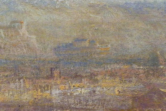J.M.W.Turner Rome from Mount Aventine, 1836 Detail of Castel Sant'Angelo. Well represented, but put in the wrong place.