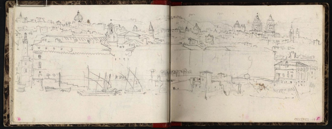 .M.W.Turner Rome from Mount Aventine, 1828 From the Rimini to Rome sketchbook, TB CLXXVIII 4a-5 Compare the accuracy of the sketch with the treatment in the painting.