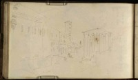 J.M.W.Turner The Forum Boarium, Rome, Including the Temple of Portunus, Santa Maria in Cosmedin and the Temple of Hercules Victor, 1819 From the Albano, Nemi, Rome sketchbook, TB CLXXXI 37a Page size, 113 x 189 mm Photo courtesy of Tate Click on the image to enlarge To see the image in the Tate's online catalogue of the Turner Bequest, click on the following link, and press your browser's 'back' button to return to this page: http://www.tate.org.uk/art/artworks/turner-the-forum-boarium-rome-including-the-temple-of-portunus-santa-maria-in-cosmedin-and-d15365