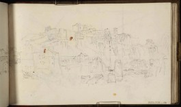 J.M.W.Turner Aventine Hill from the River Tiber, Rome, 1819 From the St Peter's sketchbook, TB CLXXXVIII 56 Page size, 114 x 189 mm Photo courtesy of Tate Click on the image to enlarge To see the image in the Tate's online catalogue of the Turner Bequest, click on the following link, and press your browser's 'back' button to return to this page: http://www.tate.org.uk/art/artworks/turner-aventine-hill-from-the-river-tiber-rome-d16257
