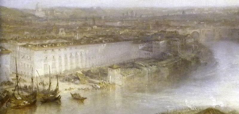 J.M.W.Turner Rome from Mount Aventine, 1829 Detail of Ospizio di San Michele a Ripa Grande