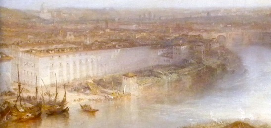 J.M.W.Turner Rome from Mount Aventine, 1829 Detail of Ospizio di San Michele a Ripa Grande