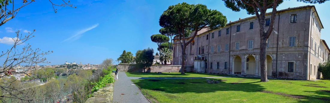 The Terrace of Sant Alessio Monastery, Rome Photograph by David Hill, Taken 13 April 2015, 11.56 GMT Click on image to enlarge