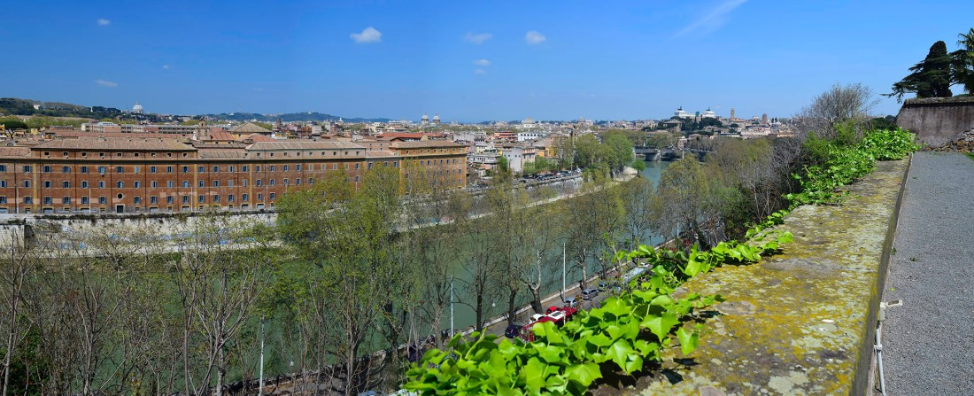 Rome from the Terrace of the Monastery of Santi Alessio e Boniface Photograph by David Hill taken 13 April 2015, 11.52 GMT Click on image to enlarge