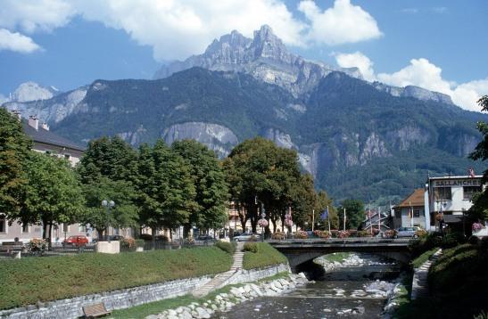 The Aiguille de Varan from Sallanches Photograph by David Hill, taken September 1999