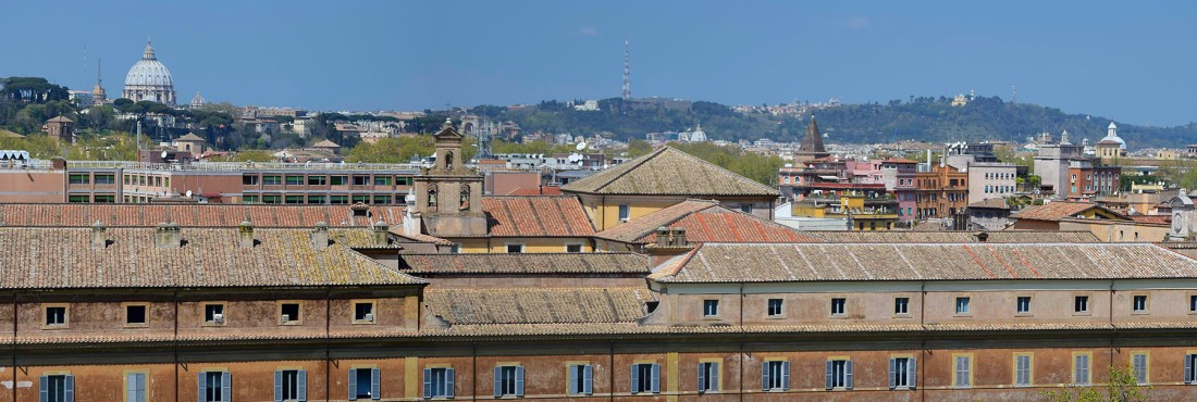 From the Vatican to Castel Sant' Angelo from Mount Aventine, Rome Photograph by David Hill, taken 13 April 2015, 11.53 GMT Click on image to enlarge