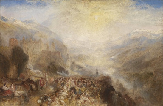 J M W Turner Heidelberg, c.1844-5 Oil on canvas, 52 × 79 ½ ins (132 × 201 cms) Tate, London, N00518 Photo courtesy of Tate To view this image in Tate's own catalogue of the Turner bequest, click on the following link, and use your browser's 'back' button to return to this page. http://www.tate.org.uk/art/artworks/turner-heidelberg-n00518