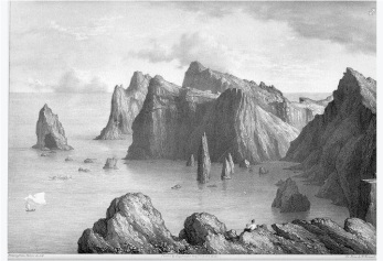 Rev J Bulwer (after) Point Lorenzo, Madeira, 1827 The engraving published in Bulwer's 'Views in the Madeiras', London 1827.