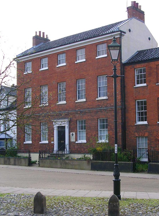 Cotman's House, Palace Plain, Norwich Photograph by Professor David Hill, taken 17 April 2005, 14.54 Cotman was living in this house in 1828 when he painted the watercolour of Point Lorenzo.