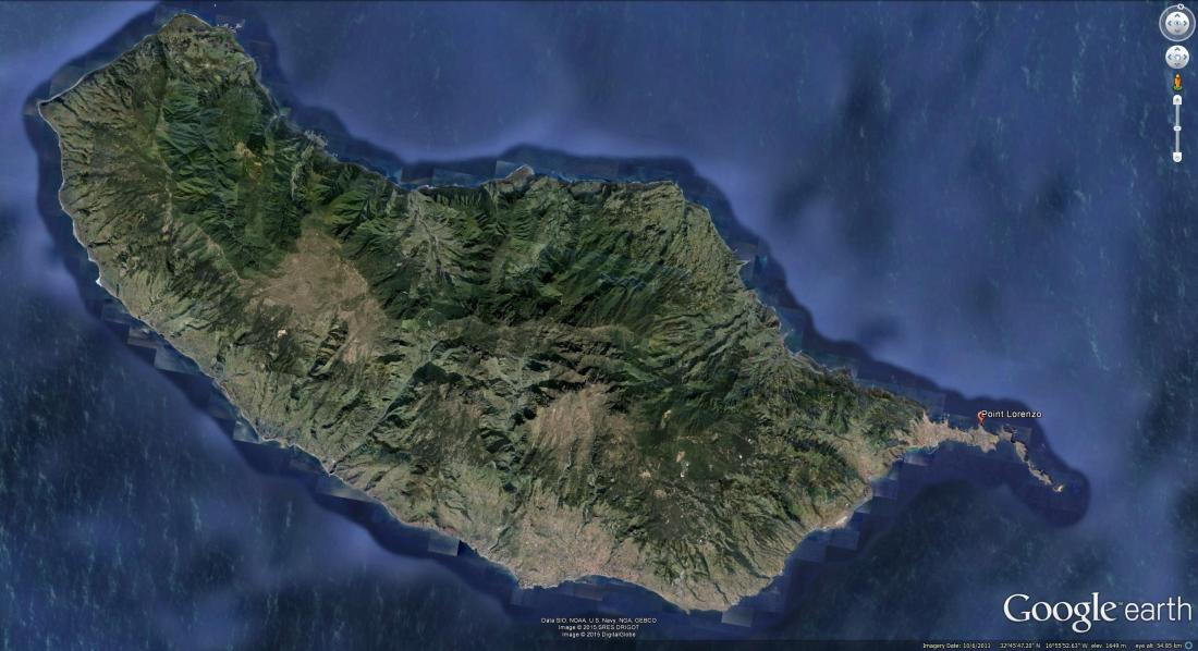 Google Earth Satellite image of Madeira