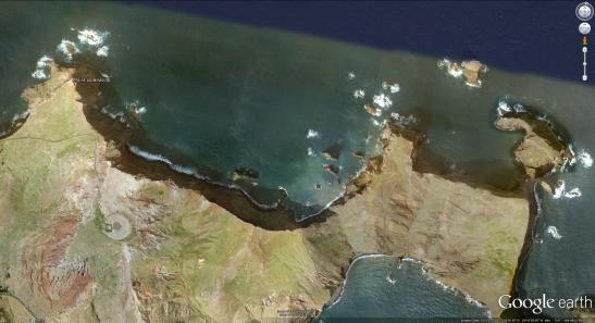 Google Earth Satellite image of Point Lorenzo, Madeira