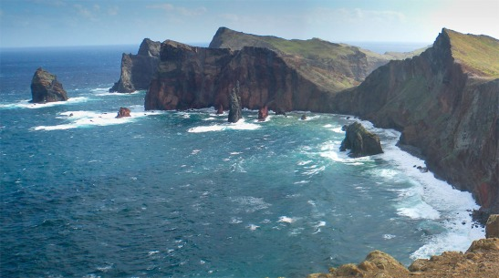 Point Lorenzo, Madeira Photograph by Professor David Hill, taken 18 February 2015, at 12.32 pm. From the Miradouro da Pedra Furada on the Ponta da Rosta, looking east over the north-facing cliffs of the Ponta de Sao Lourenco