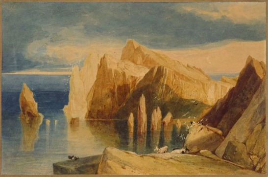John Sell Cotman Cliffs on the North-East side of Point Lorenzo, Madeira, 1828 Watercolour, 10 1/4 x 15 3/4 in, 260 x 398 mm London, Victoria and Albert Museum (P31-1949) Photo courtesy of the Victoria and Albert Museum To view this watercolour in the V&A's own website click on the following link, then use your browser's 'back' button to return to this page: http://collections.vam.ac.uk/item/O1070708/cliffs-on-the-north-east-watercolour-john-sell-cotman/