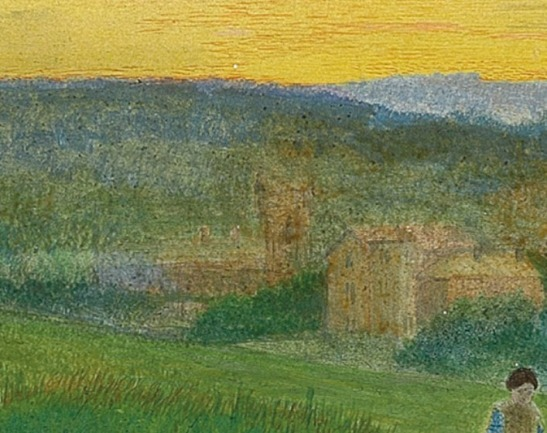 John Atkinson Grimshaw Leeds from Woodhouse Ridge, 1868 (detail of Moorfield House, centre – with Wheatfield Lodge to the right) Leeds City Art Gallery Photograph courtesy of Leeds City Art Gallery. Click on image to enlarge.