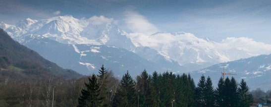 Mont Blanc from St Martin, near Sallanches Photograph by David Hill, taken 11 March 2015, 14.08 GMT Click on image to view full size