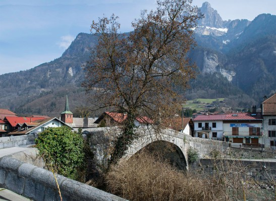 The Bridge of St Martin, with the Aiguille de Varan Photograph by David Hill take 11 March 2015, 11.48 GMT Click on image to open at full size