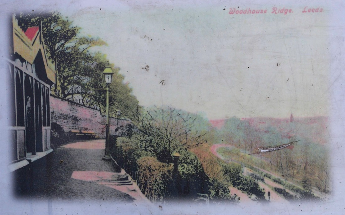 Old postcard of Woodhouse Ridge (From Woodhouse Ridge History Board) Click on image to enlarge