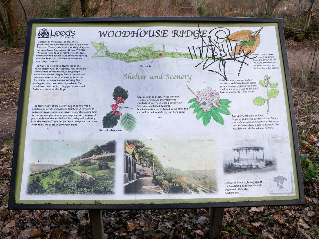Woodhouse Ridge History Board Photograph by David Hill taken 3 February 2015, 11.01 Click on image to enlarge