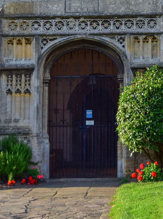 Terrington St Clement's Church, Norfolk, south porch, detail of portal Photograph by David Hill taken 15 August 2015, 17.50 GMT Compare the detail in Cotman's  etching