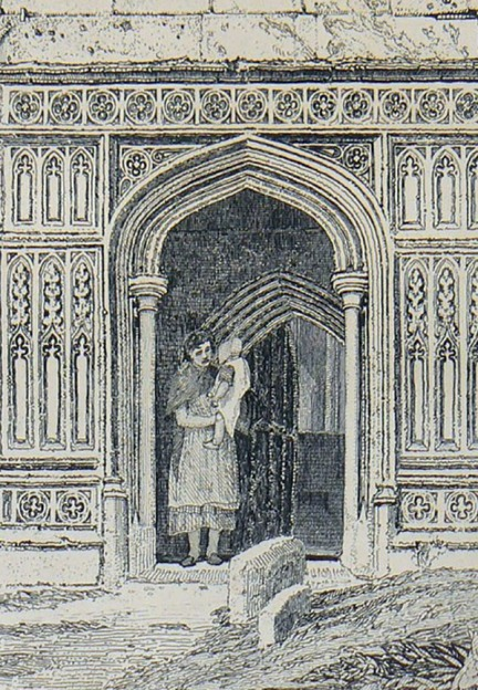 John Sell Cotman (1782 – 1842) Terrington St Clement's Church, Norfolk, c.1812-17 Etching – detail of portal Photograph by David Hill from an example in the author's collection.