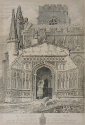 John Sell Cotman (1782 – 1842) Terrington St Clement's Church, Norfolk, c.1812-17 Etching: Image 339 x 254 mm, on plate 391 x 271 mm Norwich Castle Museum, NWHCM : 1954.138 Image courtesy of Norwich Museums Collections To view this work in Norfolk Museums Collections' own online catalogue click on the following link then use your browser's 'back' button to return to this page: http://www.norfolkmuseumscollections.org/collections/objects/2039255551.html/#!/?q=cotman%2Bterrington The subject is at first sight uncannily well preserved, but upon closer consideration all kinds of discrepancies can be discovered..