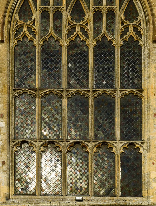 Terrington St Clement's Church, Norfolk, west window Photograph by David Hill taken 15 August 2015, 17.47 GMT