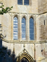 Tower of Tilney All Saints, Norfolk: detail of first stage lancets Photograph by David Hill taken 15 August 2015, 17.02 GMT Compare the detail in Cotman's watercolour, etching and pencil drawing.