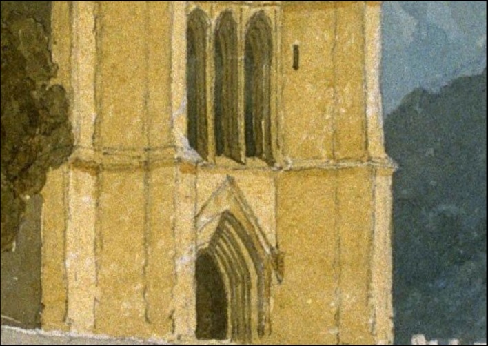 John Sell Cotman (1782 – 1842) Tower of Tilney All Saints Church, Norfolk, c.1809 Pencil and watercolour – detail of base of tower and lancets, first stage USA, San Francisco Fine Art Museums, 1977.2.11; Museum purchase, Elizabeth Ebert and Arthur W. Barney Fund Image courtesy of San Francisco Fine Art Museums