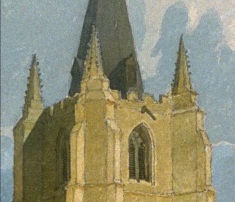 John Sell Cotman (1782 – 1842) Tower of Tilney All Saints Church, Norfolk, c.1809 Pencil and watercolour – detail of top of tower USA, San Francisco Fine Art Museums, 1977.2.11; Museum purchase, Elizabeth Ebert and Arthur W. Barney Fund Image courtesy of San Francisco Fine Art Museums