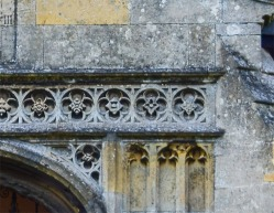 Terrington St Clement's Church, Norfolk, south porch, detail of roundels above portal Photograph by David Hill taken 15 August 2015, 17.50 GMT Compare the detail in Cotman's etching