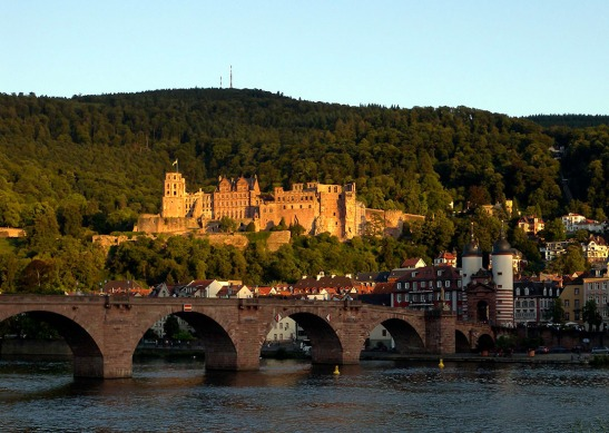 Heidelberg Bridge and Castle Photograph by David Hill taken 25 August 2015, 17.51 GMT