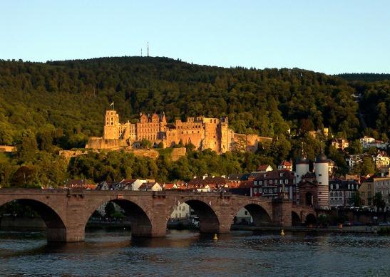 Heidelberg Bridge and Castle Photograph by David Hill taken 25 August 2015, 17.51 GMT
