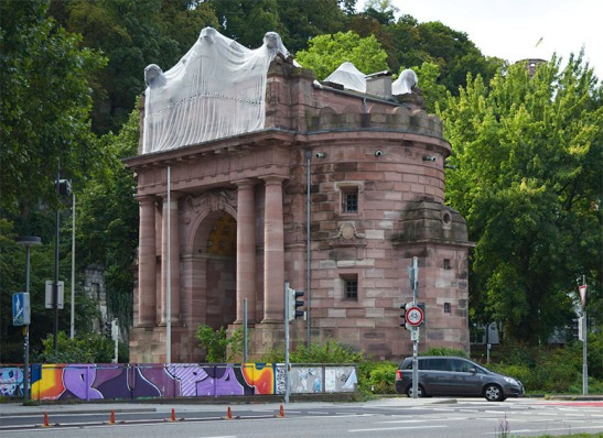 Heidelberg; the Karlstor Photograph by David Hill, 27 August 2015, 09.51 GMT The Karlstor was begun in 1775 as a tribute to the Elector Karl Theodore. The fact that it was thus the same age as the artist might account for Turner's commitment to trying to make something of it. Today it is overwhelmed by the paraphernalia of modern motoring.