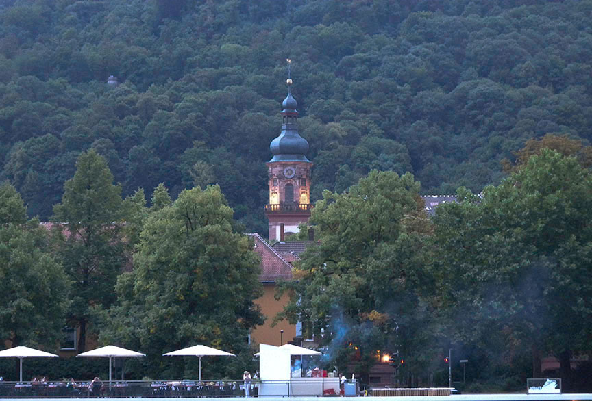 he spire of the Providenzkirche, Heidelberg Photograph by David Hill taken 27 August 2015, 17.51 GMT From the right bank of the Neckar a little way below the armoury.