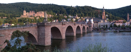 Heidelberg Bridge, Castle and Town Photograph by David Hill, taken 25 August 2015, 17.49 GMT Sadly, Turner's sketch from the Schlangenweg is one of the only subjects that I did not manage to photograph from the exact spot. How it evaded my attention I cannot tell. It seems evident enough that I am not of the same indefatigability as Turner. It may be that eating ice-cream and sitting down played some part in the omission. For now all I can offer is this photograph taken from the same angle but loafing idly on the riverside. bjraven has a photograph taken from a similar angle to the Turner on Panoramio: http://www.panoramio.com/photo_explorer#user=447152&with_photo_id=41674259&order=date_desc